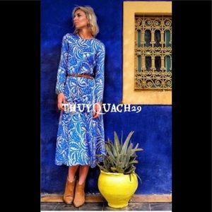 Zara Blue Floral Maxi Dress